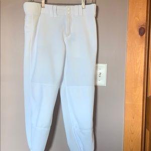 Mizono white womans softball pants